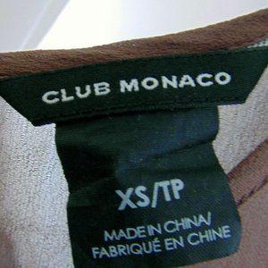 Club Monaco Tops - Club Monaco Brown Silk and Lyocell Capsleeve Blous